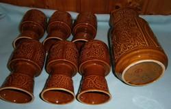 Különleges retro boros-kupás készlet