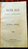 Katona József:Bánk Bán bőrkötéses kiadása 1898.-ból