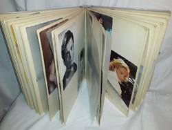 Mid Century páratlan szinész fotó gyüjtemény korabeli albumban