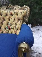 Felújított barokk ülőgarnitúra luxus Zoffany és farmer szövettel