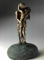 Csók  bronz szobor miniatúra