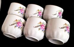 Csodaszép Royal Doux virágos kakaós bögre készlet 6 db