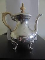 Gyönyörű késő Biedermeier teáskanna csont nyéllel, és fogóval