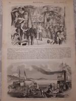 Sopron+Keszthely 1857 császári látogatás metszet eredetben