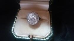 0.30ct Briliáns (40 db) 585/14kr.arany gyűrű.Ajándékozható!!!!