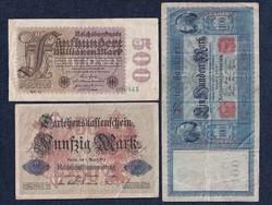3 db német márka / id 5677/