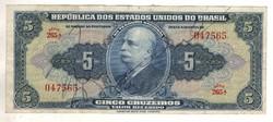 5 cruzeiros 1943 Brazilia Kézi signo. Ritka