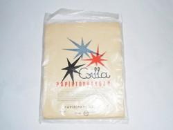 Retro Csilla papírtörülköző - nejlon nylon zacskó csomagolás - Papíripari Vállalat - 1970-es évek