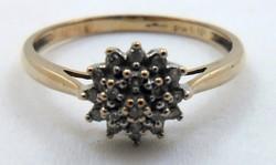 Régi aranygyűrű gyémánt kövekkel arany gyűrű