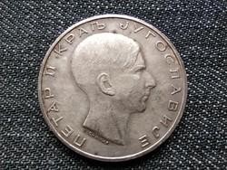 Jugoszlávia II. Péter (1934-1945) .750 ezüst 50 Dínár 1938 / id 16323/
