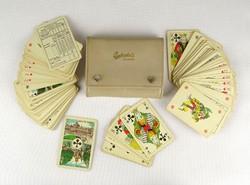 0Z097 Budweiser bőr tokban 2 pakli póker kártya