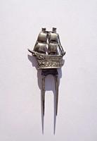 Antik német 800-as hajós tű, ékszer