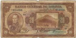 20 bolivianos 1928 1. kiadás Bolivia