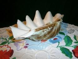 Hollóházi porcelán nagy méretű kagyló nagyon szép állapotban