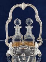 Fantasztikus antik ezüst belül aranyozva eredeti üvegekkel 1900-as évek eleje