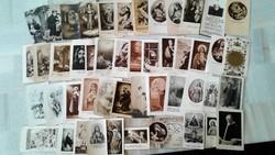 Antik fekete-fehér szentképek imakönyvbe