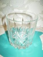 Pohár vásár kiárusítás: csésze Csiszolt üveg pohár hibátlan 3dl.