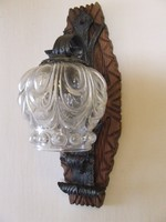 Régi kovácsoltvas fali lámpa,falikar