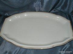 CZEHSTO aranyozott porcelán nagy tál hibátlan38x25x3cm