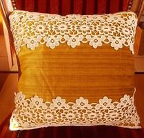 Lace decorative pillow .37X33 cm