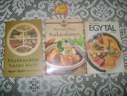 Retro szakácskönyv - három darab - 1985, 86....