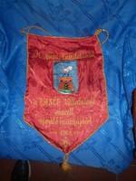 Régi zászló szocializmusból MN alakulat vasép 1968