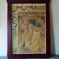 Alfons Mucha eredeti 1980 kiállitási plakát!!85x58cm alkudható!!