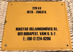 Magyar Villamosművek - zománctábla (zománc tábla)