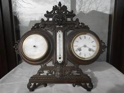 Antik francia óra/időjárás jelző íróasztalra