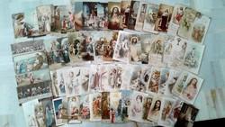 Antik színes szentképek imakönyvbe