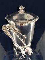 Elegáns ezüst jégtartó 1900-as évek eleje