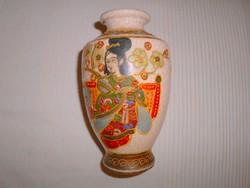 Japán antik Satsuma porcelán váza