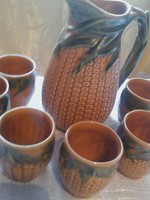 Kerámia kukorica pohár készlet