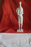 Ritkább Zsolnay Török J.(Korsót tartó Nő)art deco porcelán figura