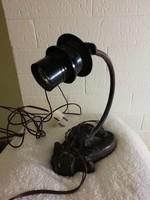 Régi öntöttvas asztali lámpa
