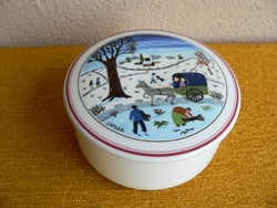 Villeroy & Boch porcelán ékszertartó, doboz