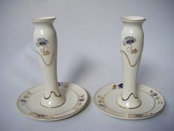 Zsolnay Búzavirág mintás gyertyatartó pár