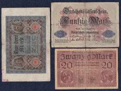 3 db német márka / id 5565/