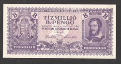 Tízmillió B.-pengő 1946.  Tökéletes UNC!!