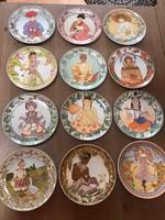 Régi Villeroy & Boch porcelán fali tányér gyűjtemény