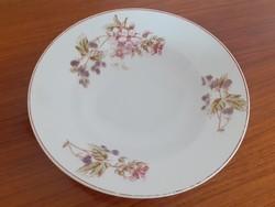 Régi porcelán fali tányér vadszeder mintás népi szedres falidísz