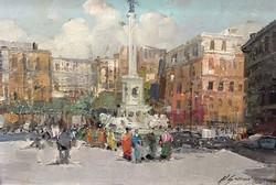 Csodálatos impresszionista festmény a nápolyi Mártírok teréről