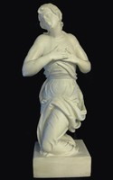 XIX. századi Fa Nőalak,faragott szobor