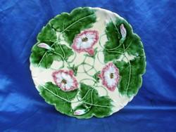 1.db antik 32 cm-es körmöcbányai majolika fali tányér