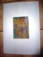 Cs. Németh Miklós: Szőke nők, eredeti jelzett akvarell 1993