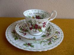 Royal Albert angol  porcelán reggelizőszett, december