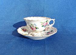 1843-as Lippert & Haas in Schlaggenwald csésze és csészealj