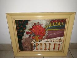 SCHÉNER MIHÁLY: Virágos erkély