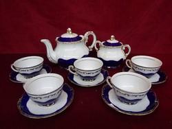 Zsolnay porcelán pompadour III-as 5 személyes  teáskészlet.