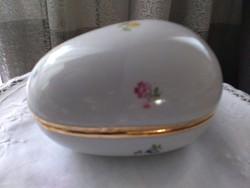 Hollóházi nagyméretű tojás bonbonier